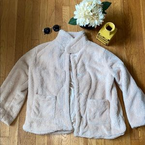 BOUTIQUE Cream Teddy Coat